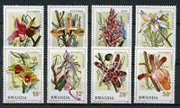 Rwanda 1976 MNH Rwandaise Orchids 8v Set Flowers Stamps