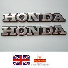 Honda Petrol Tank Badge Emblem SILVER **UK STOCK** (A PAIR)