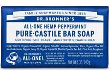 Dr. Bronner's OBPE05 Pure Castile Bar Soap, Peppermint Scent, 5 Oz