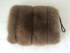 Luxury Crystal Fox Real Genuine Fur Clutch,Muff Women Genuine Hand Warmer. 1500$