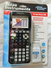 TEXAS INSTRUMENT TI-84 PLUS CE ENHANCED GRAPHING CALCULATOR BLACK BRAND NEW