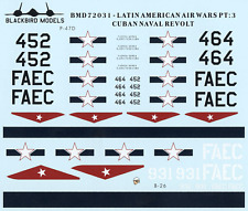 Cuban Naval Revolt 1/72nd scale decals