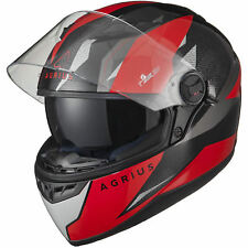 Agrius Rage SV Fusion Motorcycle Helmet L Gloss Black/red