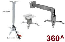 UNIVERSAL ADJUSTABLE PROJECTOR CEILING+WALL MOUNT BRACKET ADAPTER INSTALL KIT HD