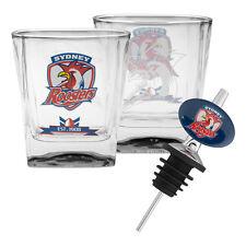 Sydney Roosters NRL 2 Spirit Glass & Pourer *NRL OFFICIAL MERCHANDISE*