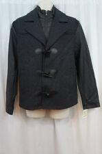 INC International Concepts Mens Jacket Sz M Charcoal Grey Wool Blend Jacket