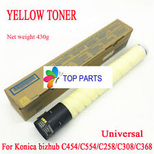 More details for yellow toner for konica minolta bizhub c454e/c554e/c258/c308/c368 tn512 tn324