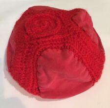 335a5dd87e7db Vintage 1950 s Beret Handmade Crochet Fabric Hat Red