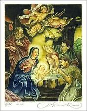 Kirnitskiy Sergey 2002 Exlibris C4 Christmas Noel Jesus Mary Christ Angel 45