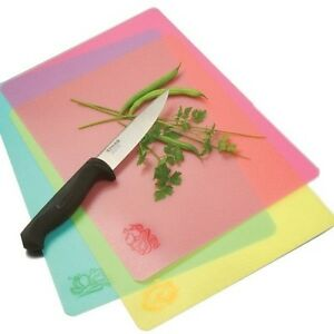 Norpro Flexible Cutting Mats Set of 3 -  Color Icon for Meat-Fruits-Vegetables