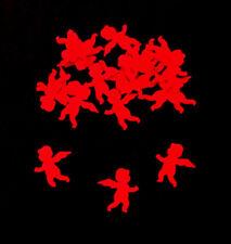 Dekokonfetti  WEIHNACHTEN  Engel  rot  2 cm  Papier 20 Stück   Neu