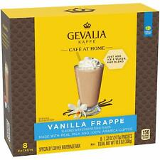 Gevalia Kaffe Cafe at Home Vanilla Frappe Coffee Mix 8 Packets