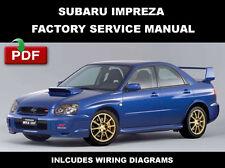 2004 SUBARU IMPREZA WRX STI ULTIMATE OEM WORKSHOP SERVICE REPAIR FSM MANUAL