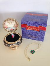 Anastasia Trinket Music Box with Necklace by The San Francisco Music Box Co. NIB