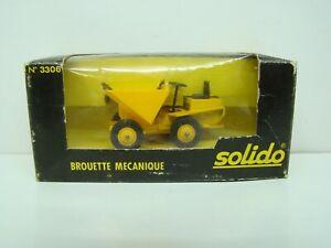 SOLIDO - N° 3306 - BROUETTE MECANIQUE - 1980 - 1/43 - BOITE - ANCIEN -
