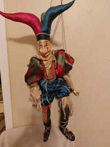 """Original Katherine's Collection Wayne Kleski 29"""" Puppet Jester Doll"""