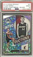 2019-20 Tyler Herro Panini Mosaic Introductions Fast Break Silver RC, PSA 9!!!