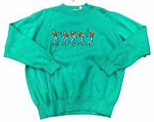 Vtg PIVOT Sportsware Embroidered Golf Pullover Sweatshirt Sweater Men's L nwot