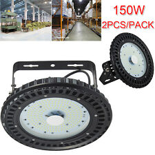 2 pcs 150W LED High Bay UFO Lamp Gym Factory Warehouse Industrial Shed Lighting