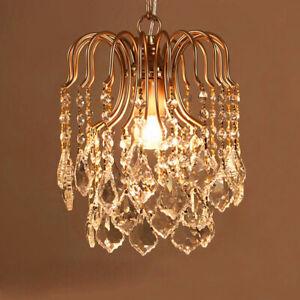 Modern Crystal Pendant Lamp Restaurant Light Fixtures Chandelier  Ceiling Lamp