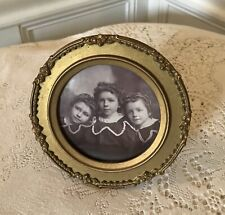 Antique Hanging Metal Picture Photo Frame