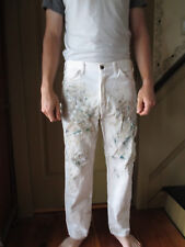 38 x 30 Dickies, etc 34 x 34 white cotton work destroyed authentic painter pants