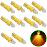 10Pcs Yellow T5 12V LED Car Auto Wedge Dashboard DASH Gauge Light Lamp Bulb New