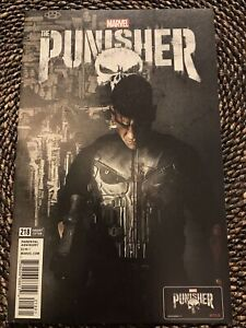Punisher #218 (2017) John Bernthal Photo Cover Frank Dons War Machine Armor