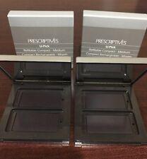 2xPRESCRIPTIVES U-Pick Medium Compartment Mirrored Refillable Compact New in Box