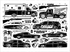 Mike Giant SLAMMED letterpress print poster tattoo art rebel 8 cars low rider