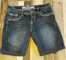 WALLFLOWER Bermuda shorts, size 3, 5 pocket, distressed