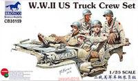Bronco Model kit CB35159 1/35 WWII US Truck Crew Set (4 figures)