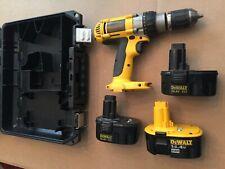 "DeWalt DW983 14.4VHeavy Duty XRP ½"" Cordless Drill  & 2 Batteries + CASE+ CHARG"