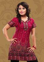 Indian Designer Crepe kurta tops blouse Kurtis-Tunics for Women
