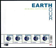 [BF50009] Belgique 2014 : N°4405** - Earth Hour - Petit Feuillet de 5 Timbres