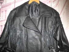 CHUPA CUERO FLECOS ROCKER PIEL VINTAGE CHAQUETA INDIAN LEATHER JACKET RACER- 42