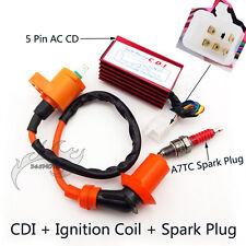 5 Pin CDI Ignition Coil Spark Plug For Spree SYM DD50 Honda Dio Elite SB SA 50