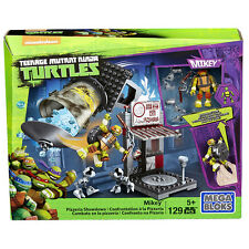Teenage mutant ninja turtles mega bloks mikey pizzeria showdown lot jeu jouet