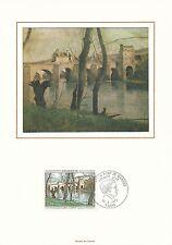 Plaquette Encart 1er Jour - Corot 1977 Numéroté