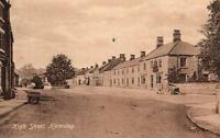 High Street Helmsley Yorkshire Early RP Postcard a1