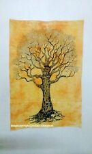 Wall hanging Throw Textile Hippie Dry Tree Yellow Cotton Small Poster Tapestry