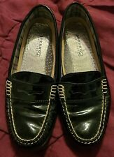 Sperry Top Sider black loafers 9293010 leather upper Sz. 8.5m women's