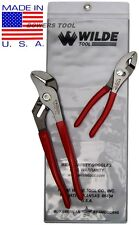 Wilde Tool 2pc Plier Set Combination Slip Joint Tongue & Groove MADE IN USA