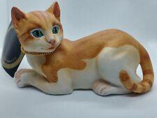 """1985 Andrea By Sadek, American Shorthair, 3"""" Tall, Porcelain Cat Kitten Figurine"""