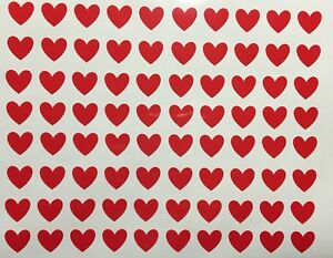 80 x Gloss Red Heart Vinyl Decal Glass Valentines Wedding Stickers Car Craft