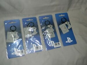 Sony PlayStation Console + Controller Metal Charm Key Chain Retail HOLO - Dutch