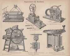 Magnetelektrische Maschinen Elektromotor STICH von 1877 Dynamo Generatoren