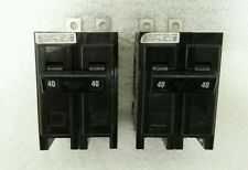 Cutler Hammer 40A 2 Pole Circuit Breakers - Lot of 2 - NOS
