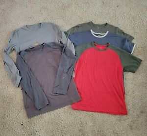 Lot of 5 - ICEBREAKER - Merino Wool - T-Shirt - Men's M and L SS and LS
