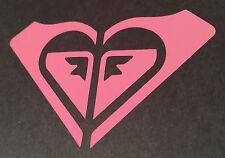 "Roxy Quiksilver Surfing Logo ~ vinyl window decal bumper sticker Light Pink 4"""
